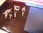 ゴールドパールガイド電気ストーブのチューブから作る。